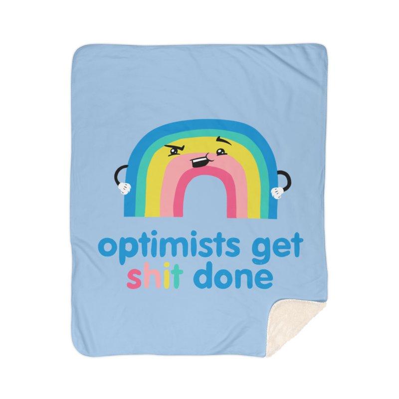 Optimists Home Sherpa Blanket Blanket by Jake Giddens' Shop