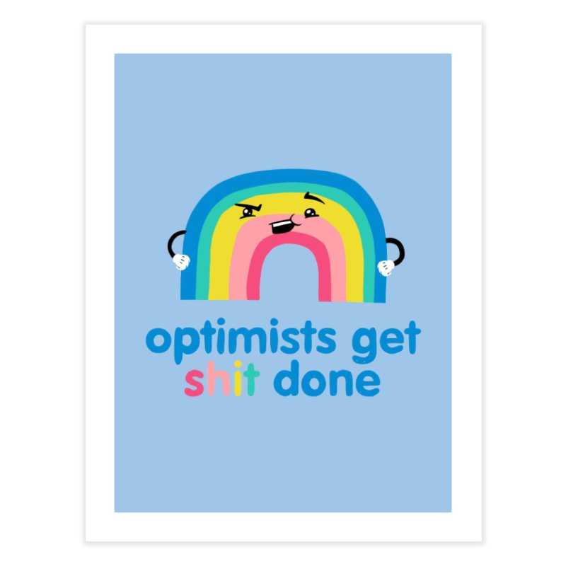 Optimists Home Fine Art Print by Jake Giddens' Shop