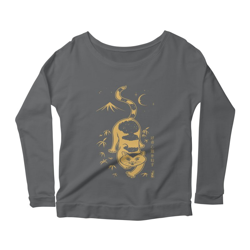 Playful Cat Women's Scoop Neck Longsleeve T-Shirt by Jake Giddens' Shop