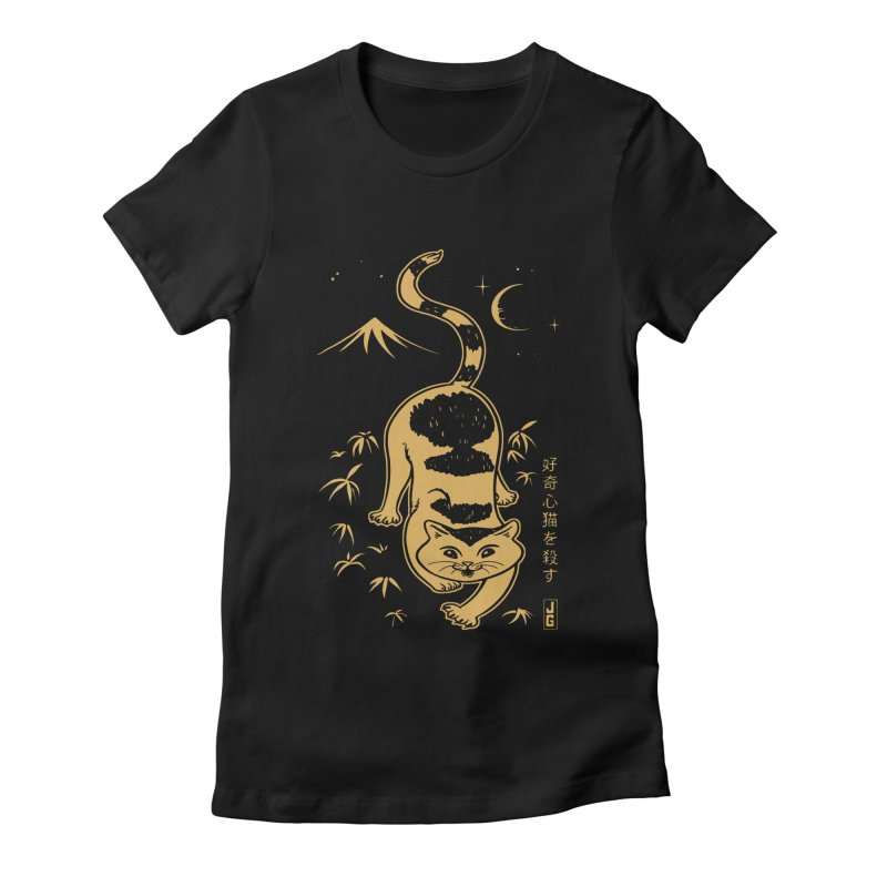 Playful Cat Women's Fitted T-Shirt by Jake Giddens' Shop