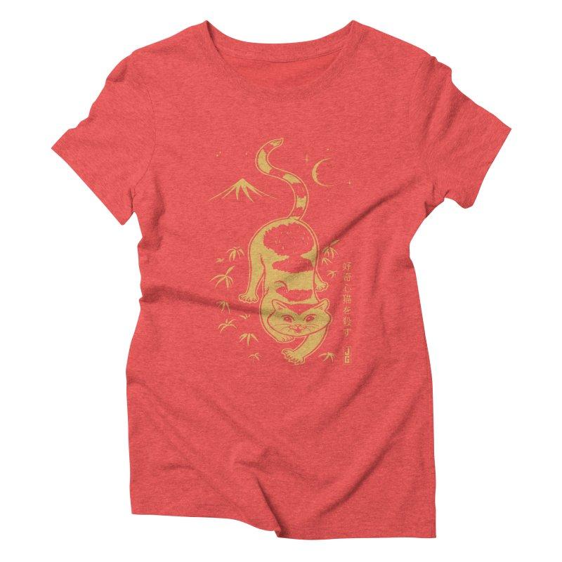 Playful Cat Women's Triblend T-Shirt by Jake Giddens' Shop