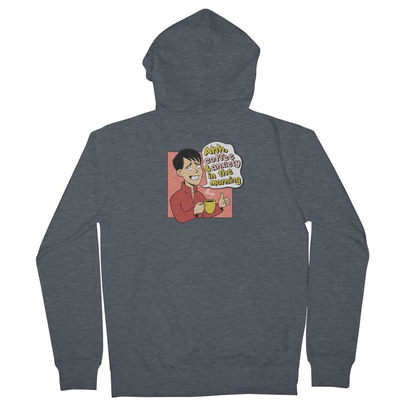 Coffee and Anxiety Men's French Terry Zip-Up Hoody by Jake Giddens' Shop