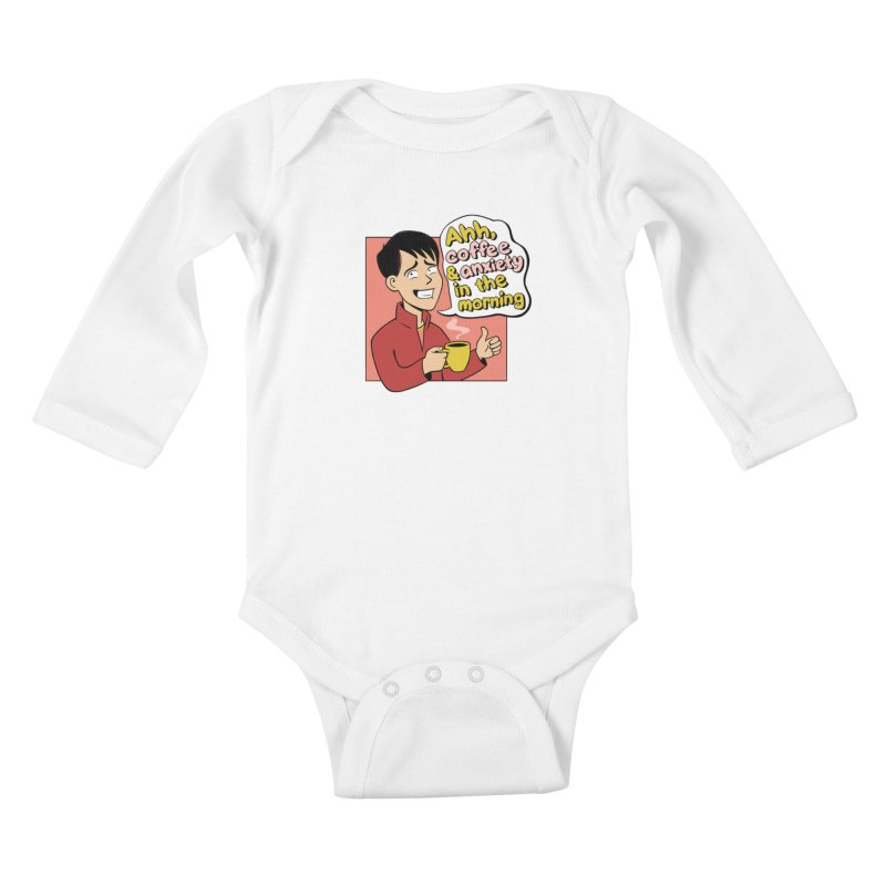 Coffee and Anxiety Kids Baby Longsleeve Bodysuit by Jake Giddens' Shop