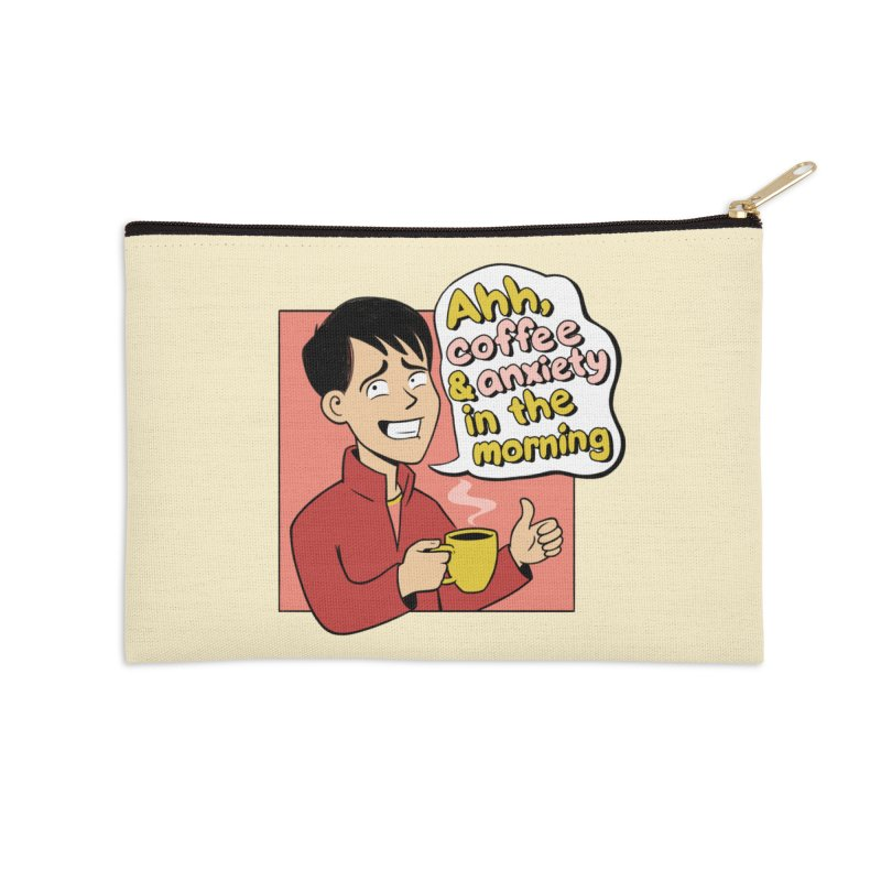 Coffee and Anxiety Accessories Zip Pouch by Jake Giddens' Shop