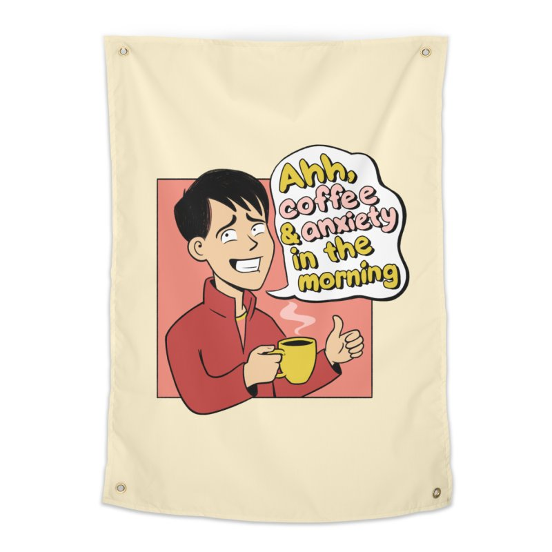 Coffee and Anxiety Home Tapestry by Jake Giddens' Shop