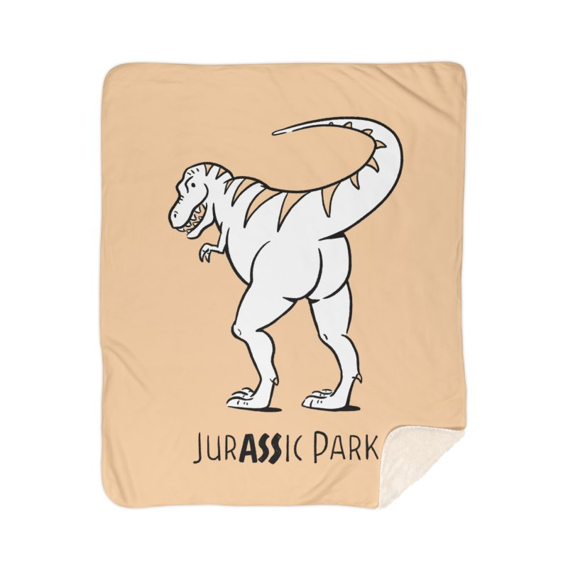 JurASSic Park Home Sherpa Blanket Blanket by Jake Giddens' Shop