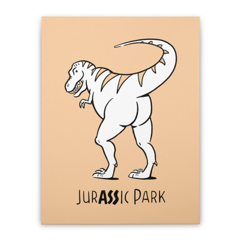 JurASSic Park Home Stretched Canvas by Jake Giddens' Shop