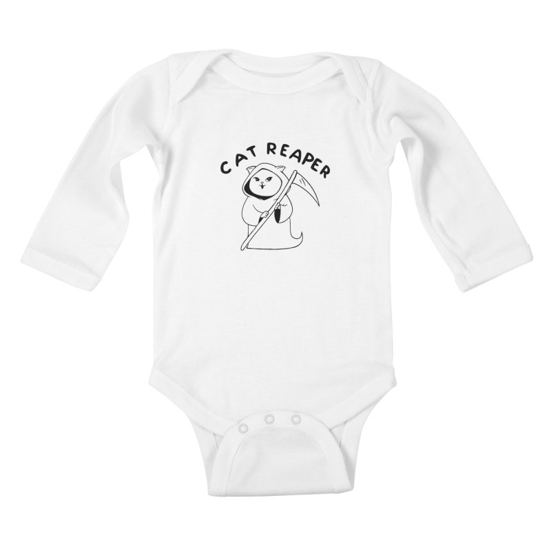 Cat Reaper Kids Baby Longsleeve Bodysuit by Jake Giddens' Shop