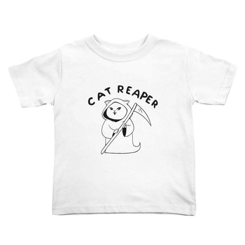 Cat Reaper Kids Toddler T-Shirt by Jake Giddens' Shop