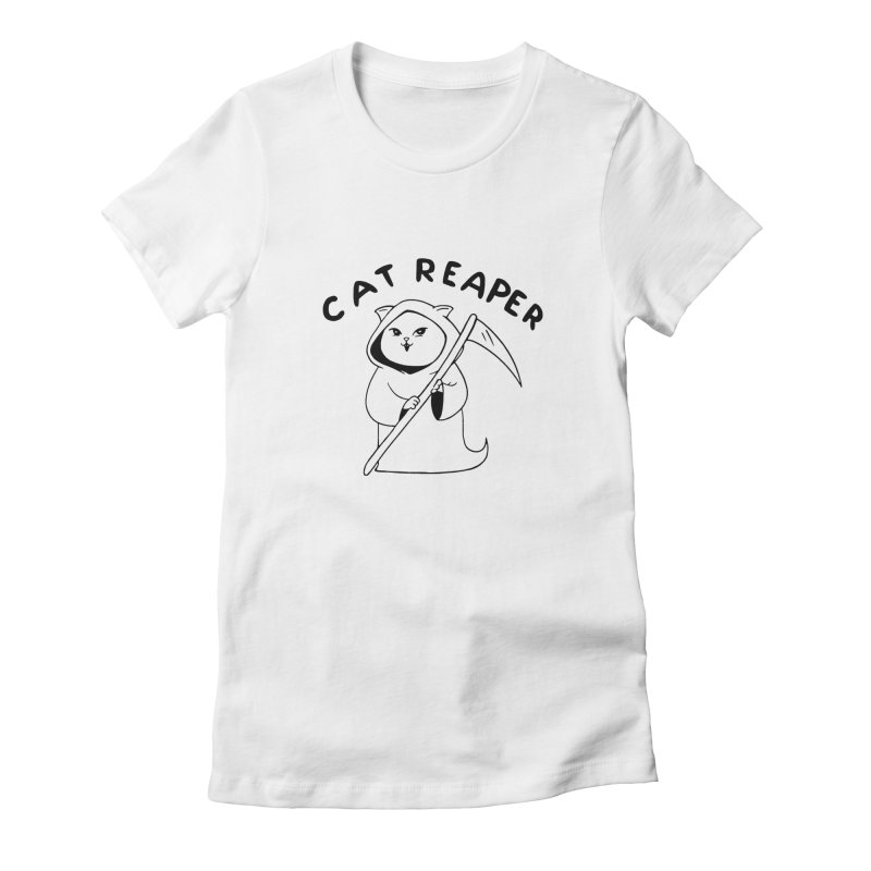 Cat Reaper Women's Fitted T-Shirt by Jake Giddens' Shop