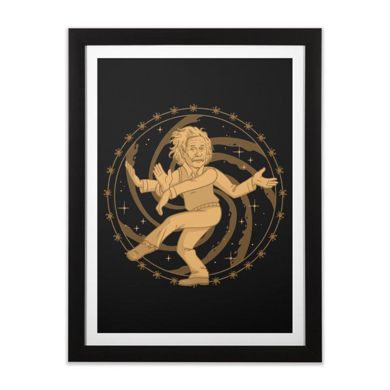 Einstein's Cosmic Dance Home Framed Fine Art Print by Jake Giddens' Shop