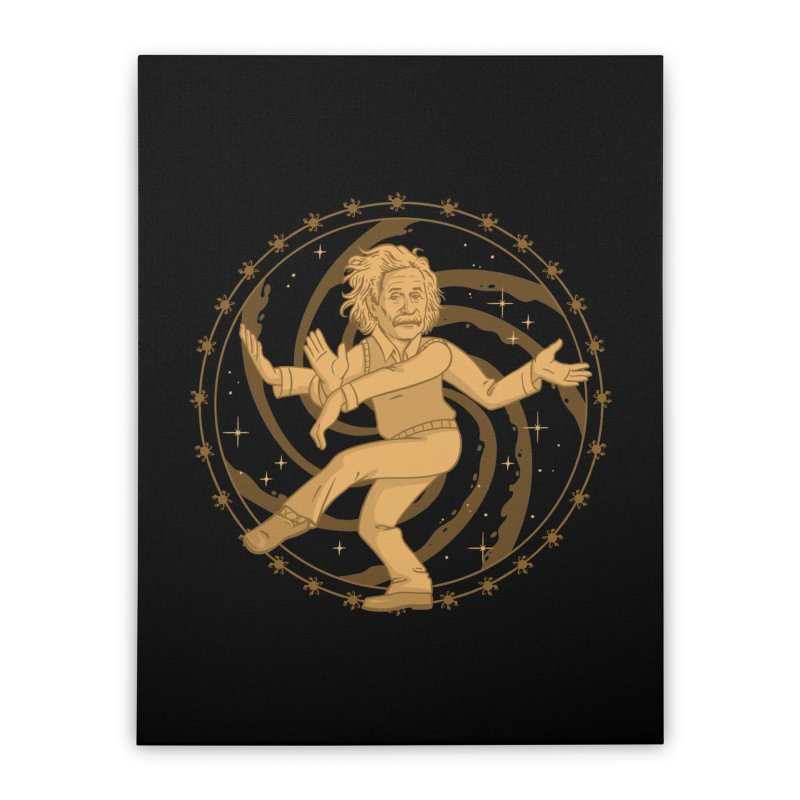 Einstein's Cosmic Dance Home Stretched Canvas by Jake Giddens' Shop