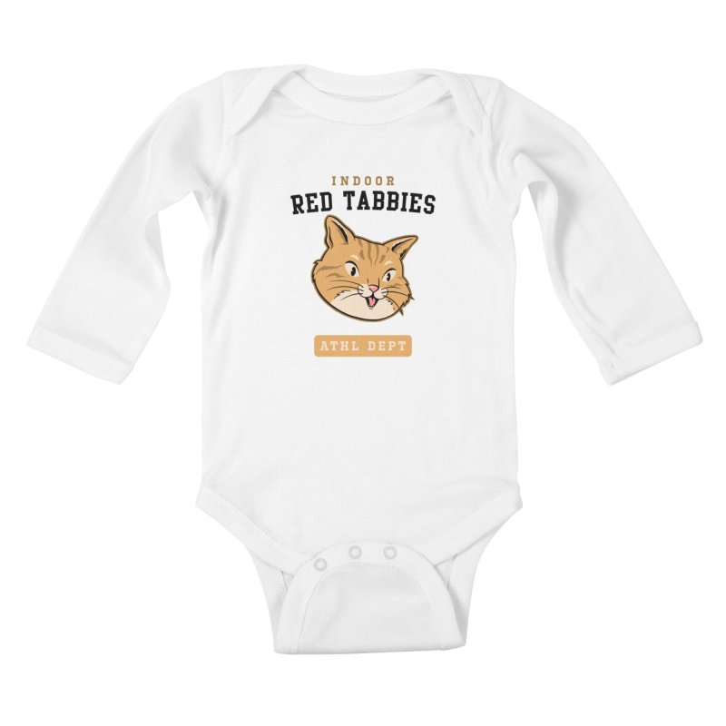 Red Tabby Cats Varsity Kids Baby Longsleeve Bodysuit by Jake Giddens' Shop