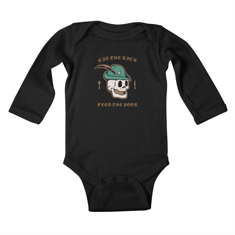 Eat the Rich Kids Baby Longsleeve Bodysuit by Jake Giddens' Shop