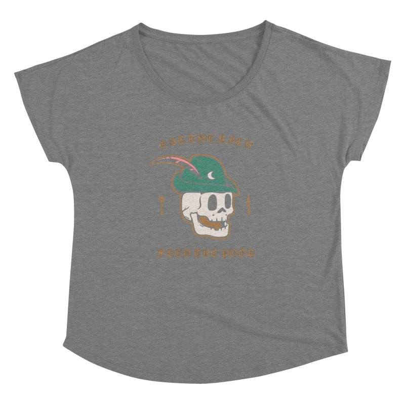 Eat the Rich Women's Scoop Neck by Jake Giddens' Shop