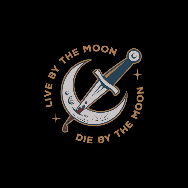 Live and Die by the Moon Kids Baby Longsleeve Bodysuit by Jake Giddens' Shop