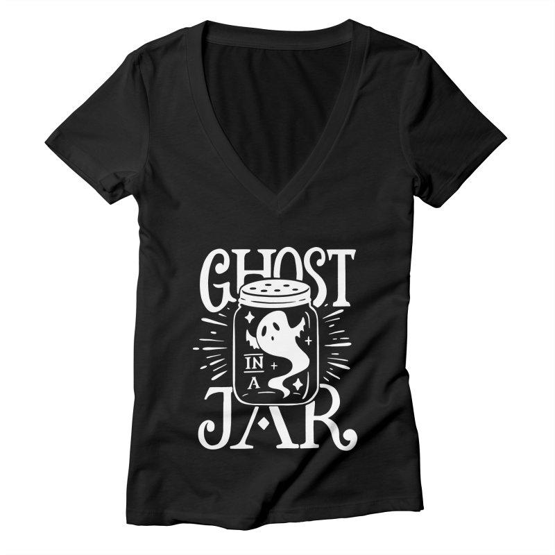 Ghost In A Jar Women's V-Neck by Jake Giddens' Shop