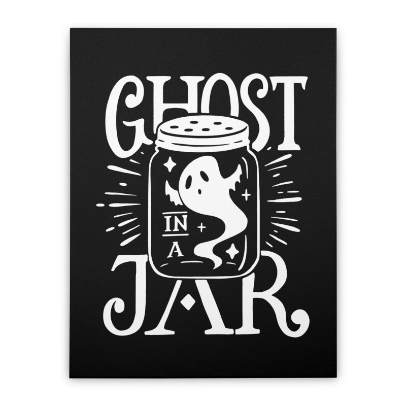 Ghost In A Jar Home Stretched Canvas by Jake Giddens' Shop