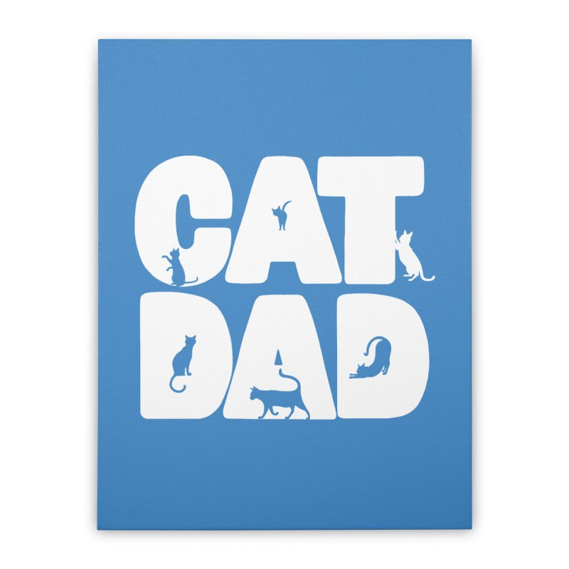 Cat Dad Home Stretched Canvas by Jake Giddens' Shop