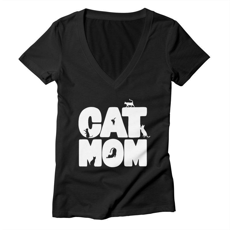 Cat Mom Women's V-Neck by Jake Giddens' Shop