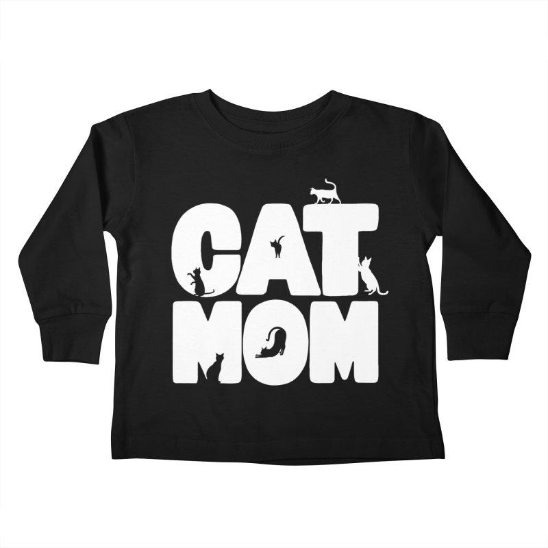 Cat Mom Kids Toddler Longsleeve T-Shirt by Jake Giddens' Shop