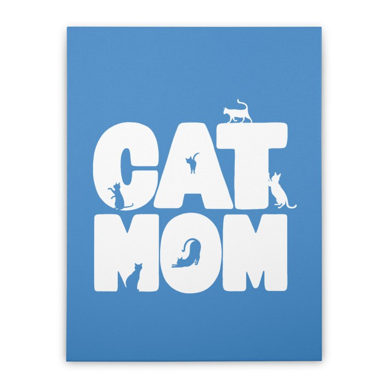 Cat Mom Home Stretched Canvas by Jake Giddens' Shop