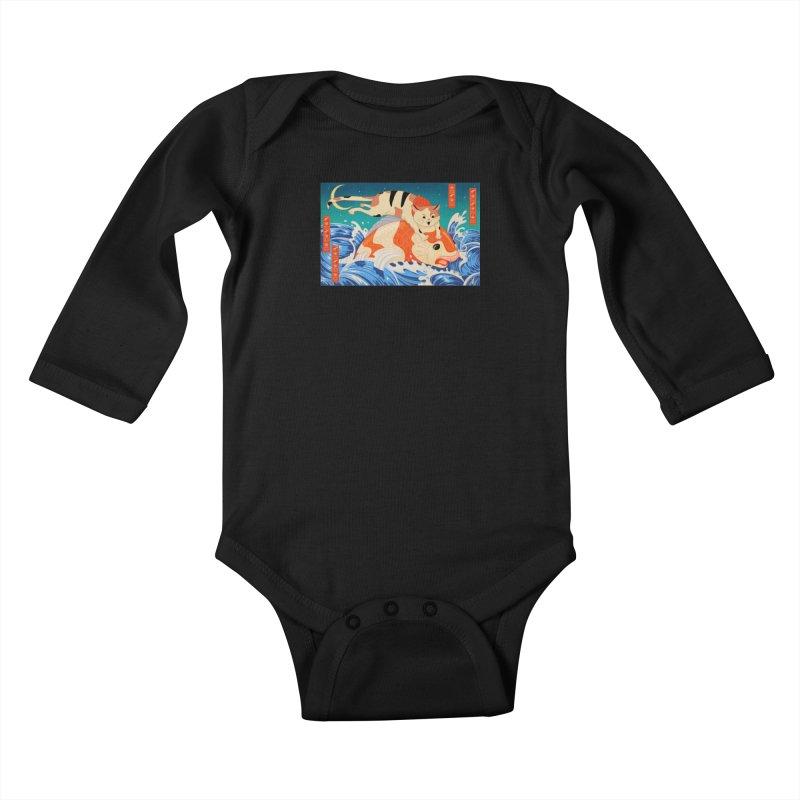 Catching Koi Fish Kids Baby Longsleeve Bodysuit by Jake Giddens' Shop