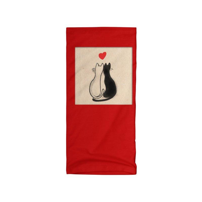 Valentine Cats Greeting Card Accessories Neck Gaiter by Jake Giddens' Shop