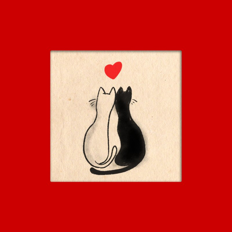 Valentine Cats Greeting Card Accessories Sticker by Jake Giddens' Shop