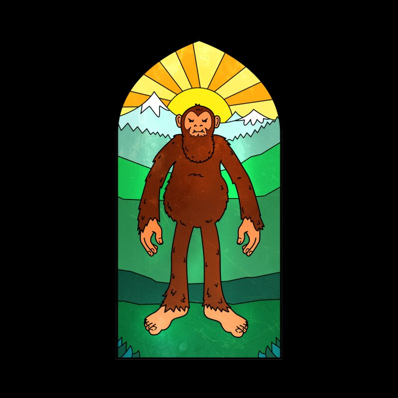Bigfoot Stained Glass Men's T-Shirt by Jake Giddens' Shop