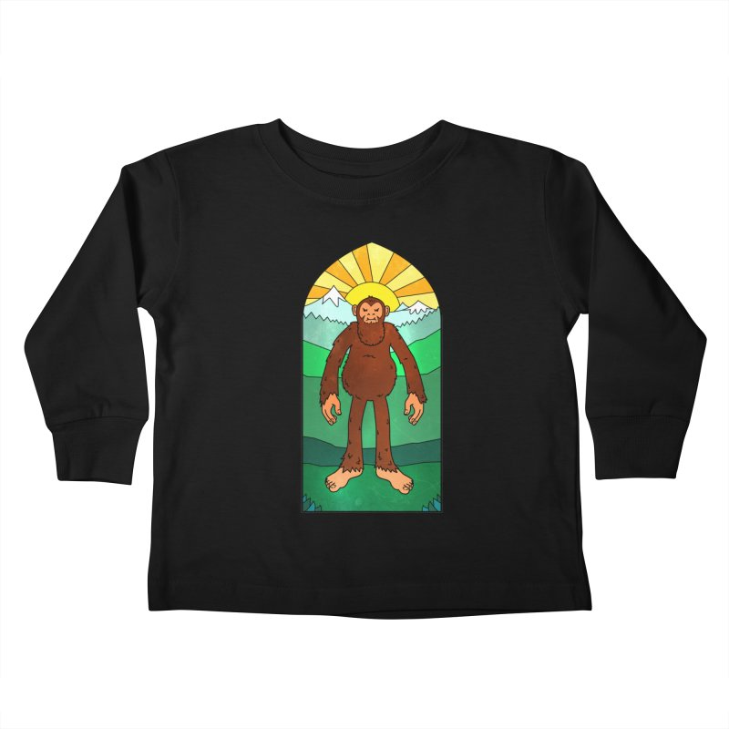 Bigfoot Stained Glass Kids Toddler Longsleeve T-Shirt by Jake Giddens' Shop