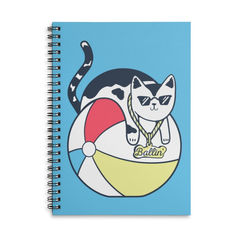 Ballin' Accessories Lined Spiral Notebook by Jake Giddens' Shop