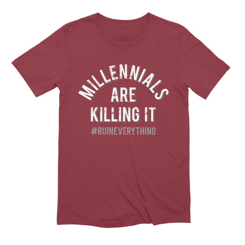 Millennials Are Killing It Men's Extra Soft T-Shirt by Jake Giddens' Shop