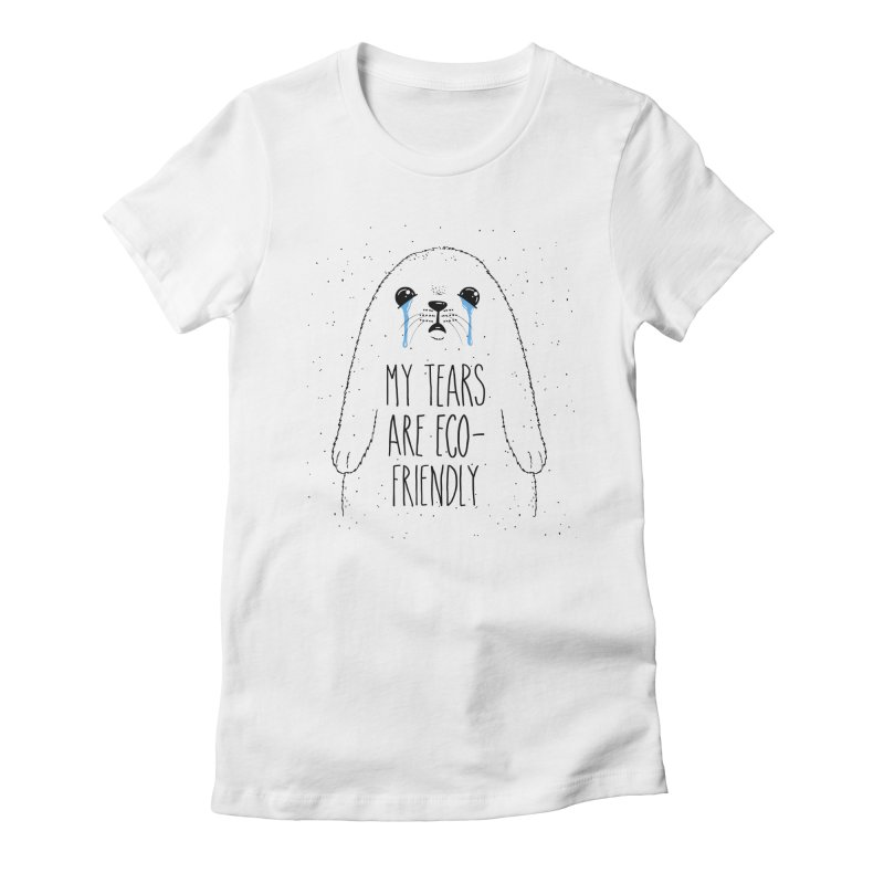 Eco-Friendly Tears Women's Fitted T-Shirt by Jake Giddens' Shop