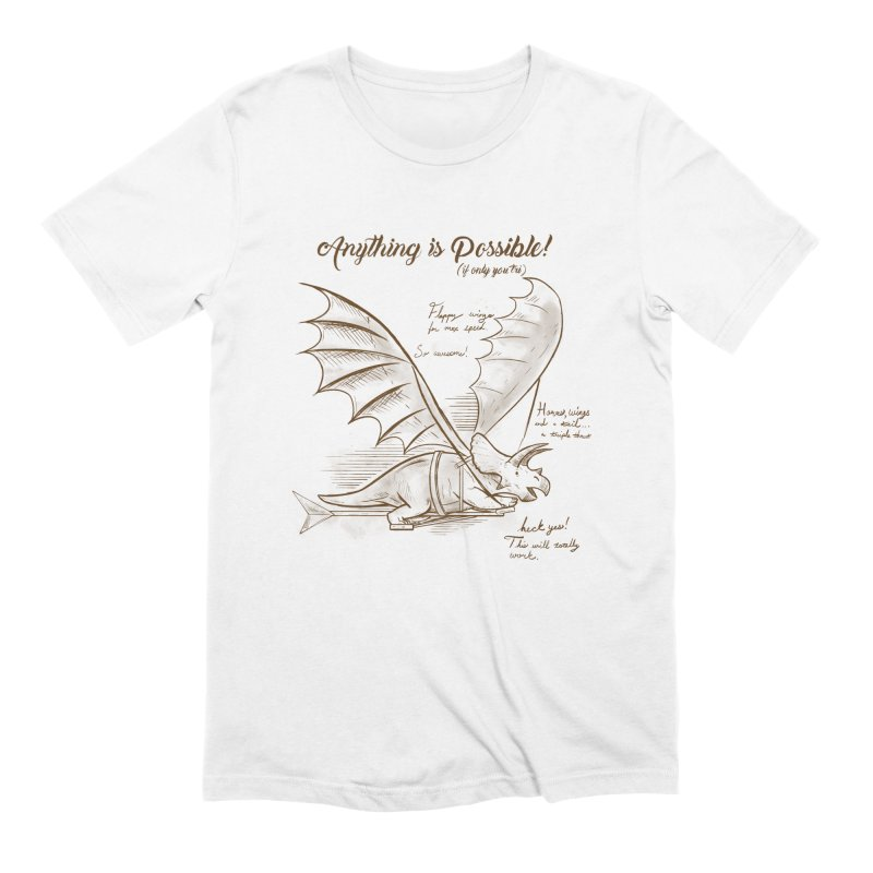 Flying Triceratops Men's Extra Soft T-Shirt by Jake Giddens' Shop