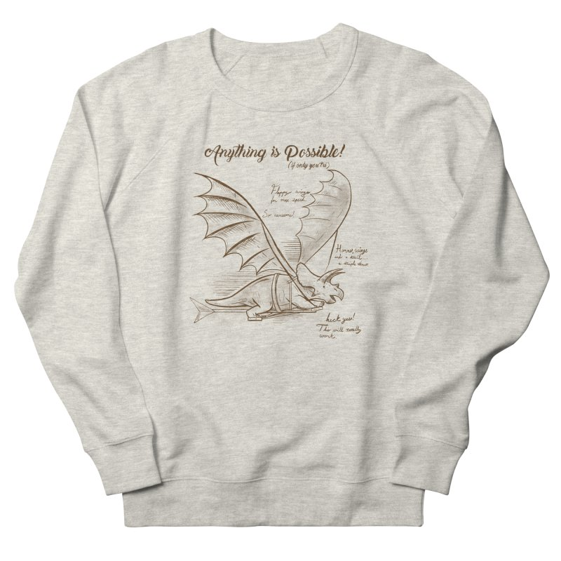 Flying Triceratops Women's French Terry Sweatshirt by Jake Giddens' Shop