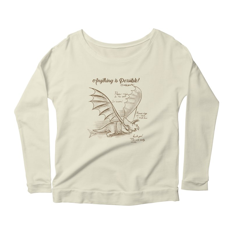 Flying Triceratops Women's Longsleeve T-Shirt by Jake Giddens' Shop