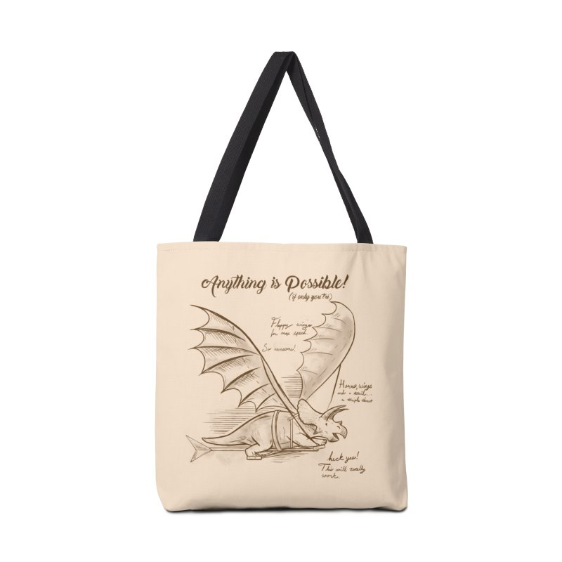 Flying Triceratops Accessories Bag by Jake Giddens' Shop