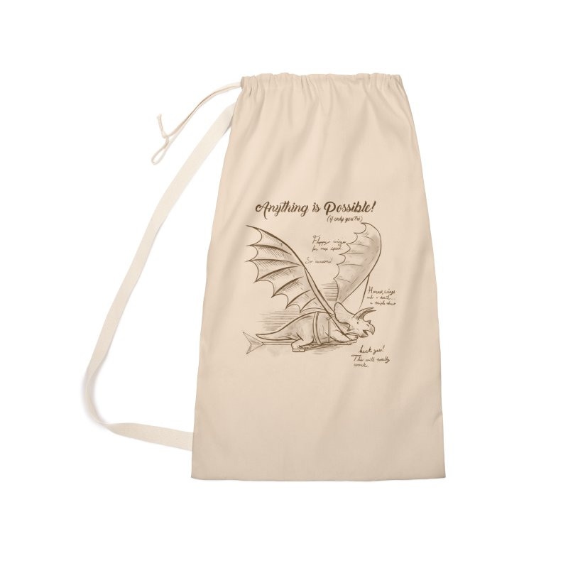 Flying Triceratops Accessories Laundry Bag Bag by Jake Giddens' Shop