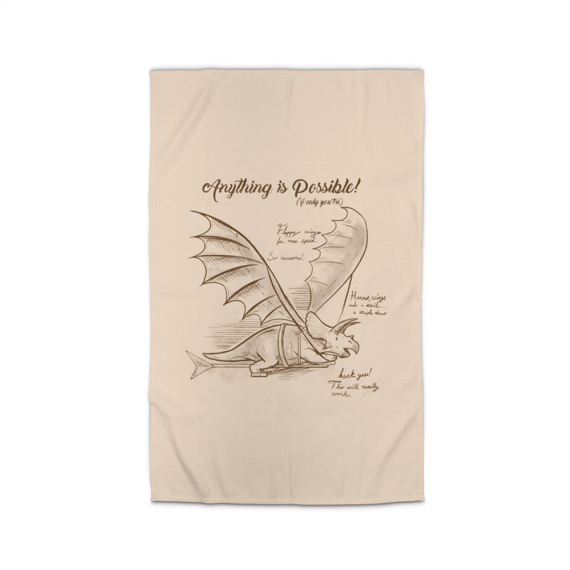 Flying Triceratops Home Rug by Jake Giddens' Shop