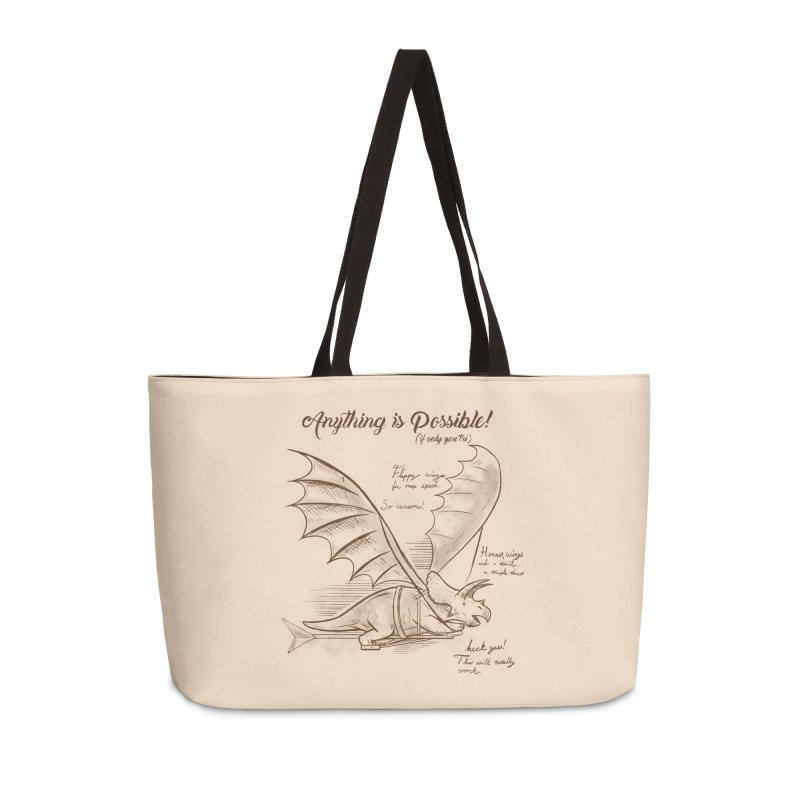Flying Triceratops Accessories Weekender Bag Bag by Jake Giddens' Shop
