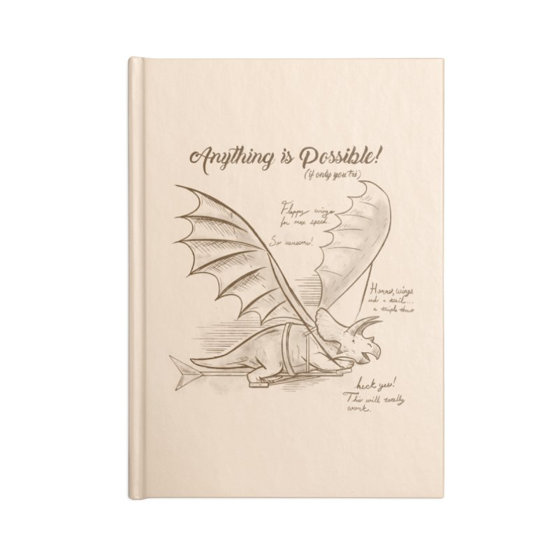 Flying Triceratops Accessories Lined Journal Notebook by Jake Giddens' Shop