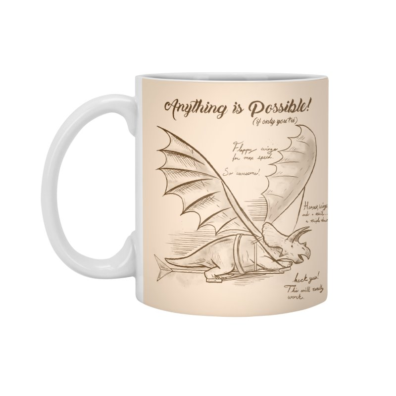 Flying Triceratops Accessories Standard Mug by Jake Giddens' Shop