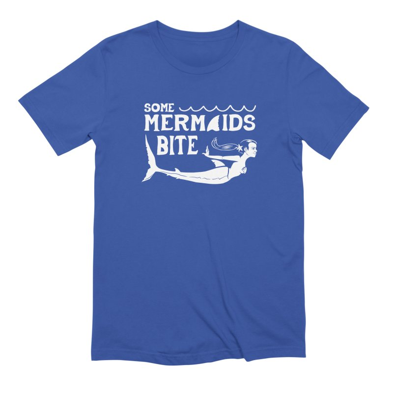 Some Mermaids Bite Men's Extra Soft T-Shirt by Jake Giddens' Shop