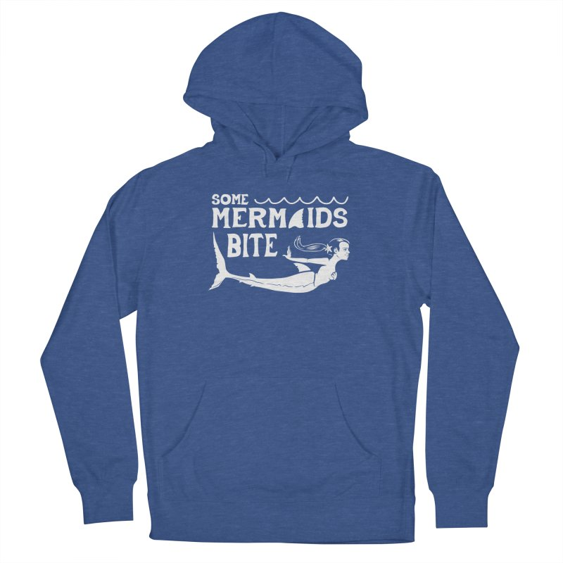 Some Mermaids Bite Men's French Terry Pullover Hoody by Jake Giddens' Shop