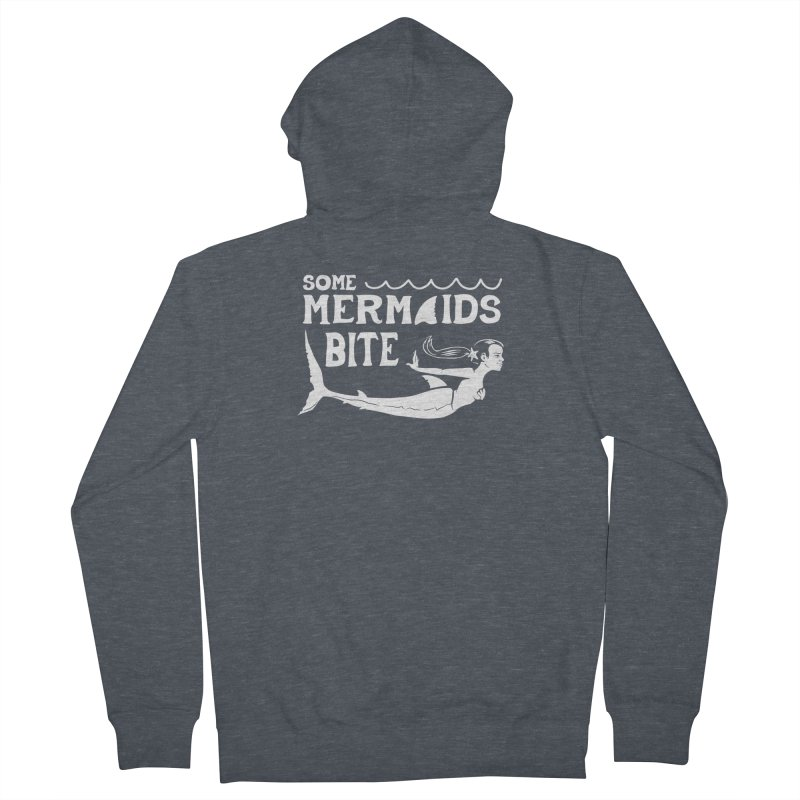 Some Mermaids Bite Men's French Terry Zip-Up Hoody by Jake Giddens' Shop
