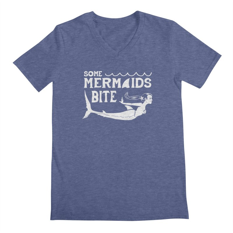 Some Mermaids Bite Men's Regular V-Neck by Jake Giddens' Shop