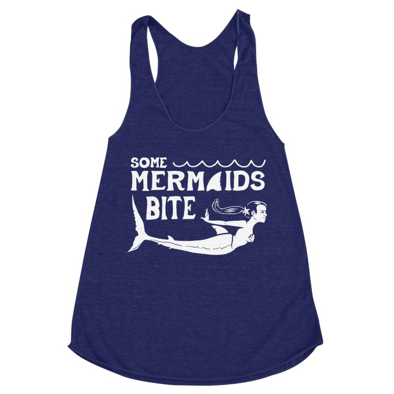 Some Mermaids Bite Women's Racerback Triblend Tank by Jake Giddens' Shop