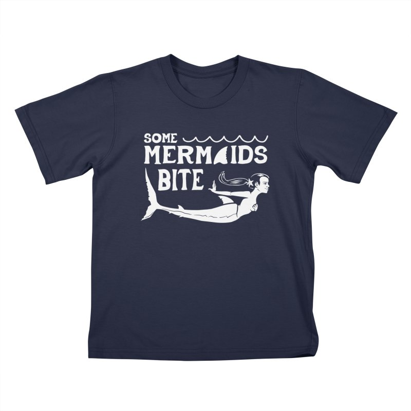 Some Mermaids Bite Kids T-Shirt by Jake Giddens' Shop
