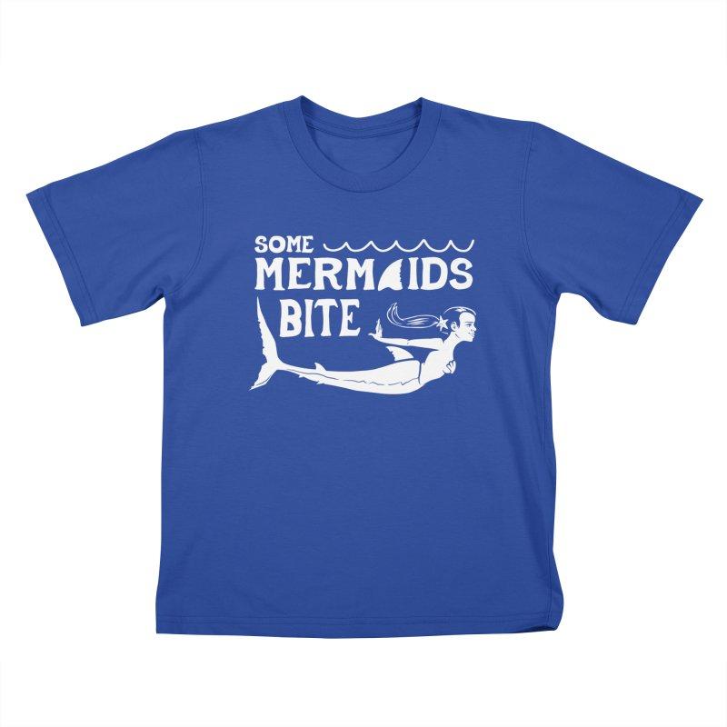 Some Mermaids Bite Kids T-Shirt by Jake Giddens' Shop
